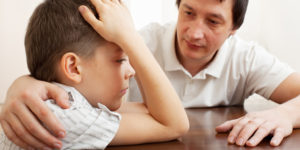 Father comforts a sad child. Problems in the family; Shutterstock ID 93795940; PO: The Huffington Post; Job: The Huffington Post; Client: The Huffington Post; Other: The Huffington Post